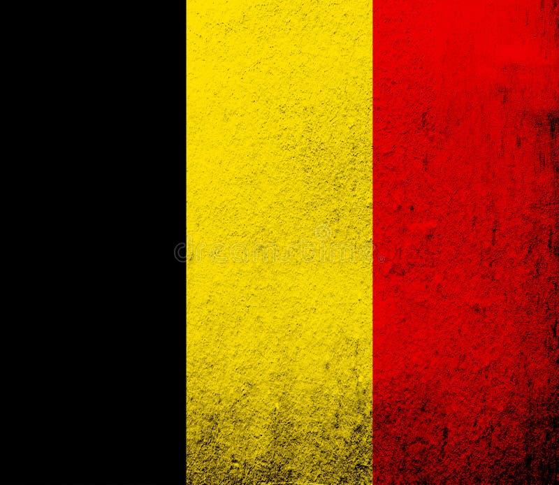Εθνική σημαία βασίλειων του Βελγίου Ανασκόπηση Grunge απεικόνιση αποθεμάτων