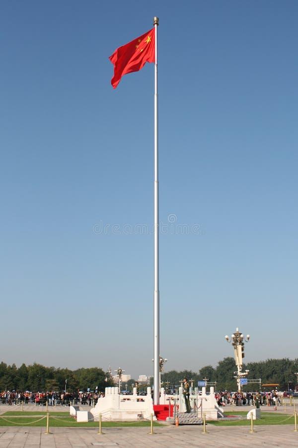 Εθνική σημαία στο ψηλό κοντάρι σημαίας στοκ φωτογραφία με δικαίωμα ελεύθερης χρήσης