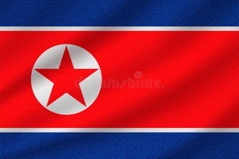 Εθνική σημαία της Βόρεια Κορέας απεικόνιση αποθεμάτων