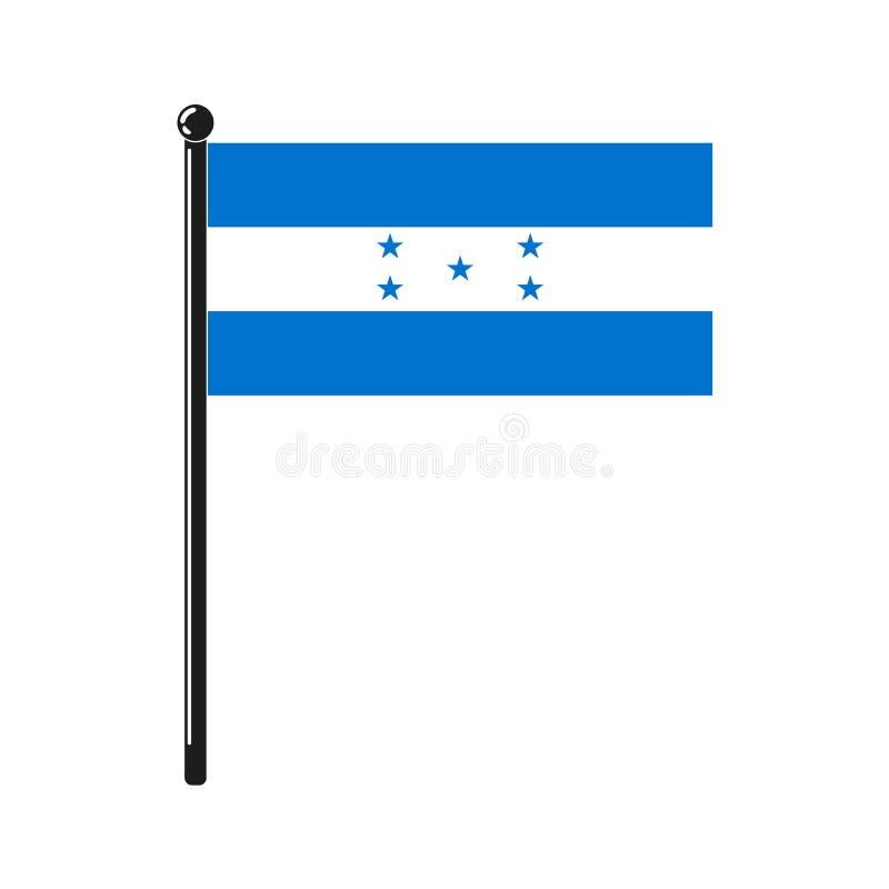 Εθνική σημαία της Δημοκρατίας της Ονδούρας ελεύθερη απεικόνιση δικαιώματος