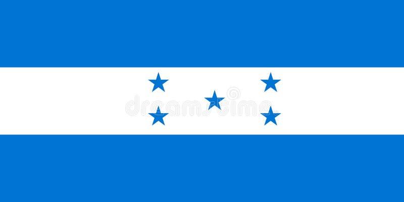 Εθνική σημαία της Ονδούρας r Τεγκουσιγκάλπα απεικόνιση αποθεμάτων