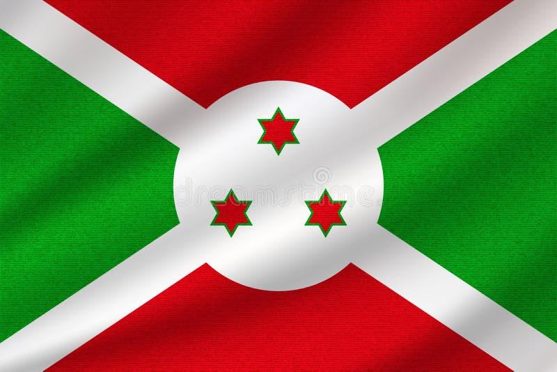 Εθνική σημαία του Μπουρούντι διανυσματική απεικόνιση
