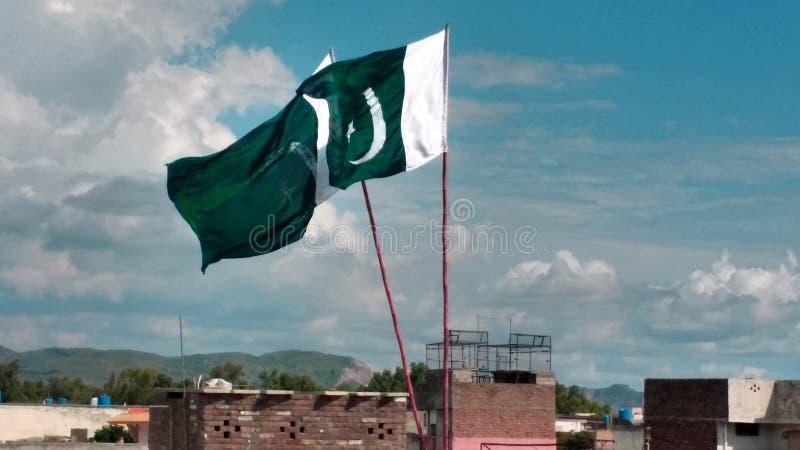 Εθνική σημαία του Πακιστάν στοκ φωτογραφίες με δικαίωμα ελεύθερης χρήσης