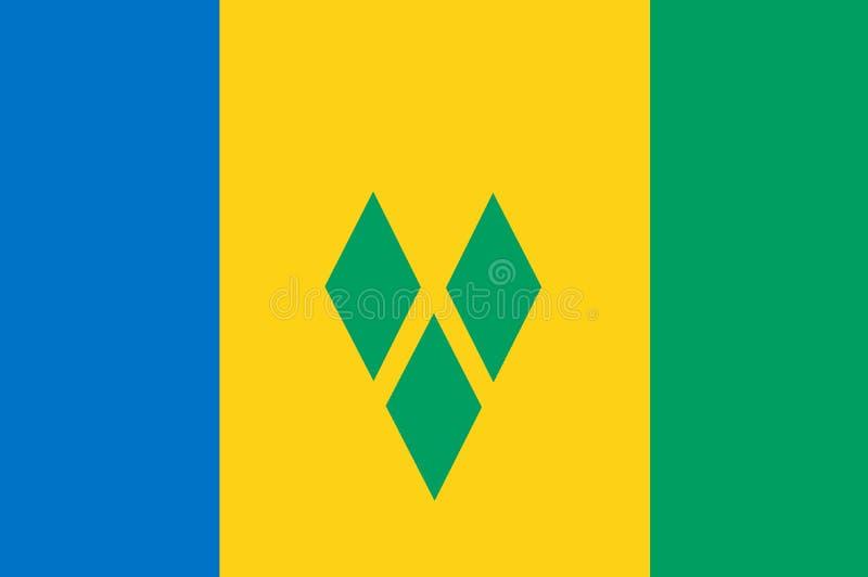 Εθνική σημαία του υποβάθρου Αγίου Vincent με τη σημαία Αγίου Vincent απεικόνιση αποθεμάτων