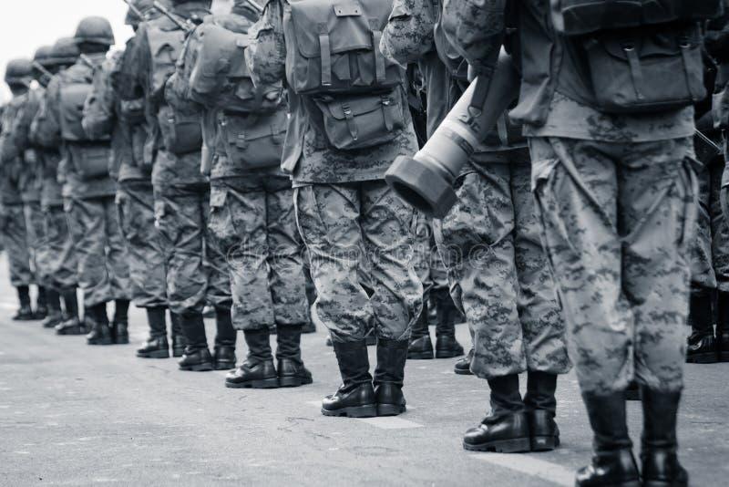 Εθνική στρατιωτική παρέλαση του Κουίτο, ΙΣΗΜΕΡΙΝΟΣ στοκ φωτογραφίες