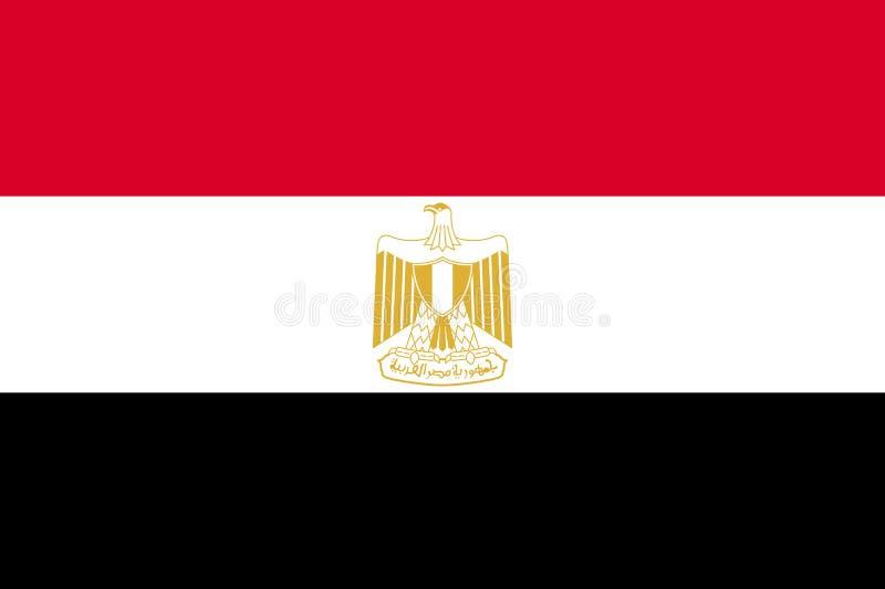 Εθνική τρέχουσα σημαία της Αιγύπτου διανυσματική απεικόνιση