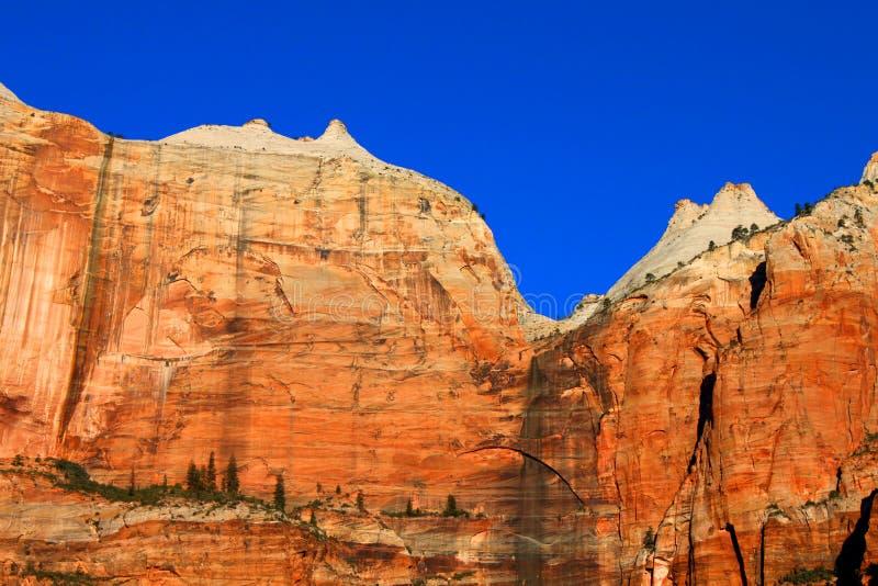 Εθνικοί απότομοι βράχοι πάρκων Zion στοκ φωτογραφία με δικαίωμα ελεύθερης χρήσης