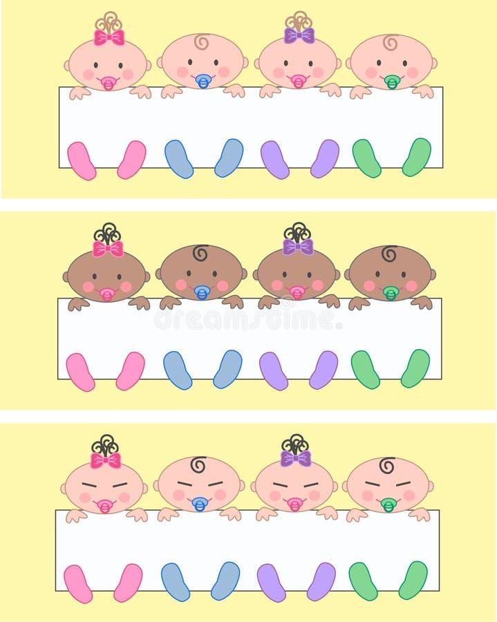 εθνικός μικτός πολυ μωρών διανυσματική απεικόνιση