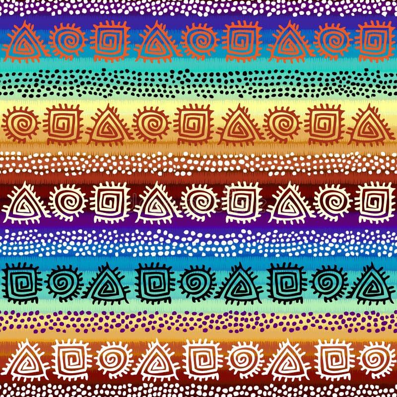 Εθνικό άνευ ραφής σχέδιο στο αφρικανικό ύφος διανυσματική απεικόνιση