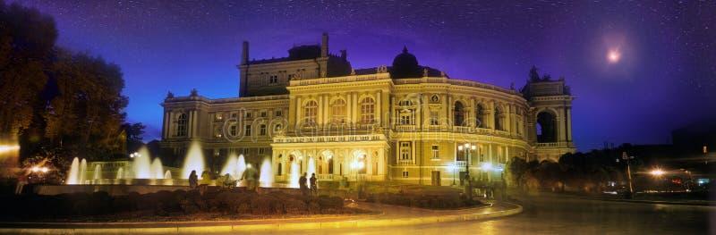 Εθνικό ακαδημαϊκό θέατρο της Οδησσός της όπερας και του μπαλέτου στοκ εικόνα