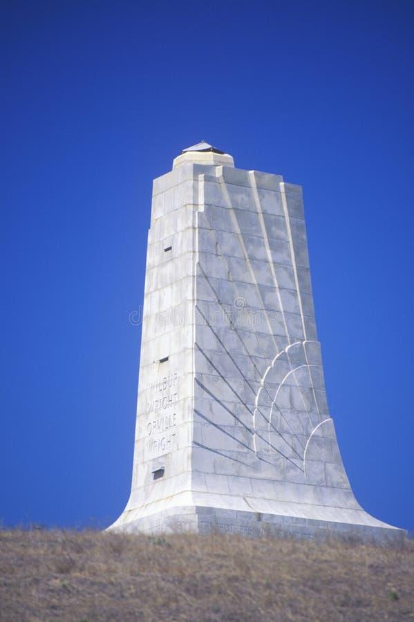Εθνικό αναμνηστικό, μεγάλο Hill διαβόλων θανάτωσης αδελφών Wright, βόρεια Καρολίνα στοκ εικόνα