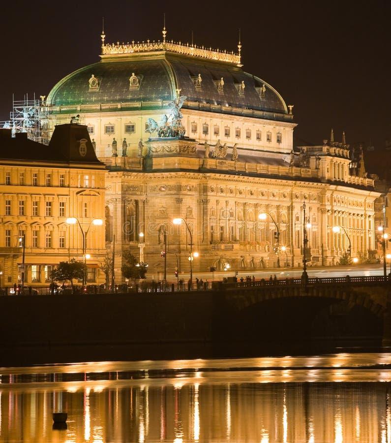 εθνικό θέατρο νύχτας στοκ εικόνες