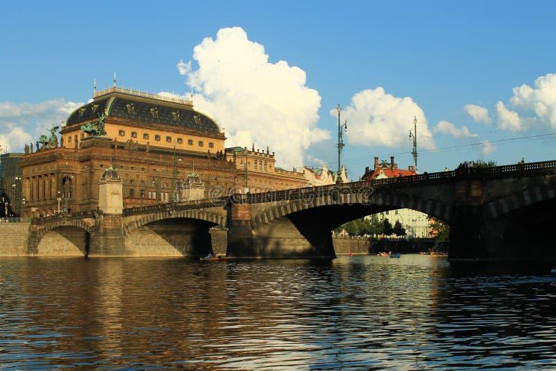 εθνικό θέατρο της Πράγας στοκ εικόνες με δικαίωμα ελεύθερης χρήσης