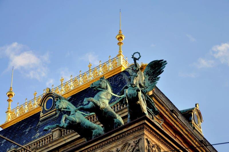 εθνικό θέατρο της Πράγας στοκ φωτογραφία