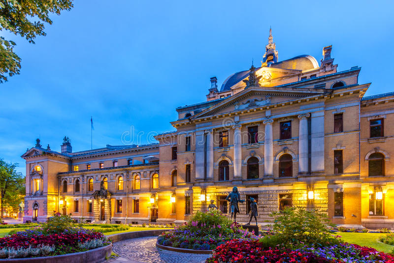 εθνικό θέατρο του Όσλο στοκ εικόνες