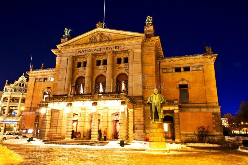 Εθνικό θέατρο Όσλο στοκ εικόνες