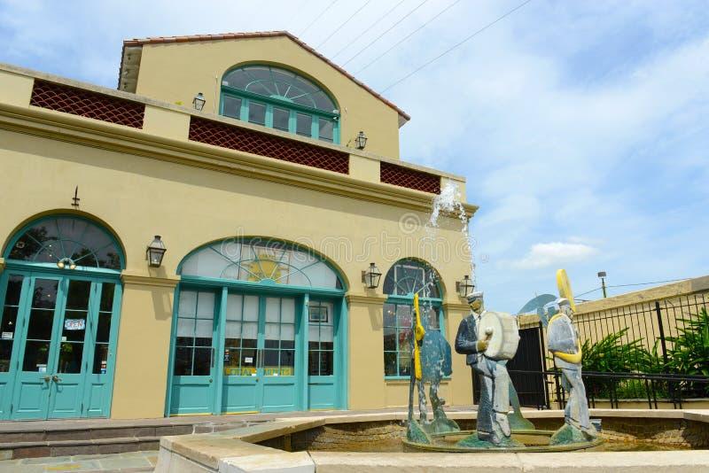 Εθνικό ιστορικό πάρκο της Νέας Ορλεάνης Jazz στοκ φωτογραφία