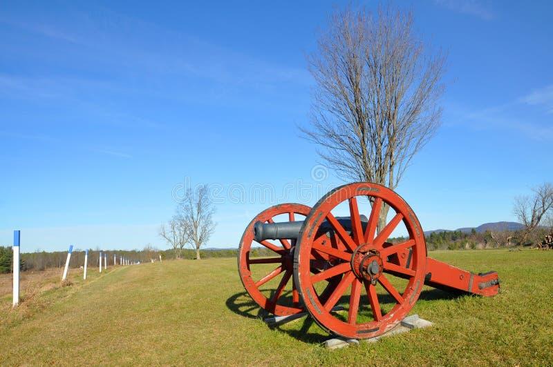 Εθνικό ιστορικό πάρκο Saratoga, Νέα Υόρκη, ΗΠΑ στοκ εικόνες