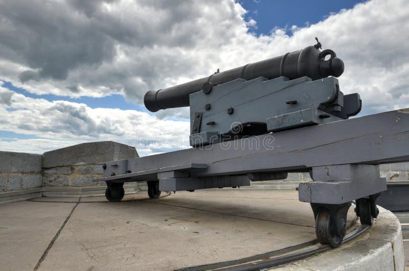 Εθνικό ιστορικό πυροβόλο περιοχών του Henry οχυρών στοκ εικόνα