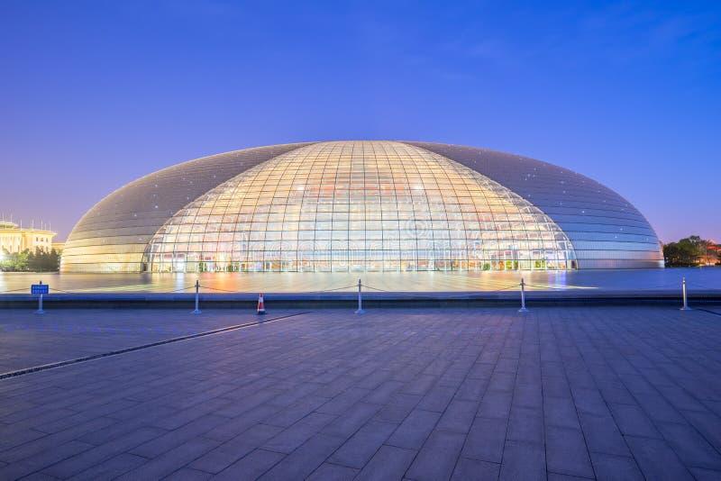 Εθνικό κέντρο για τις τέχνες προς θέαση στην πόλη Bejing, Κίνα στοκ εικόνες