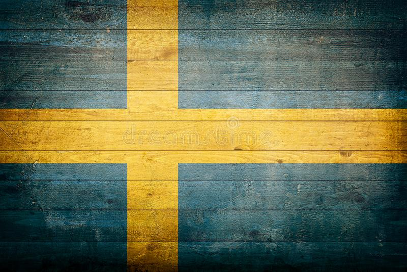 εθνικό λευκό της Σουηδίας απεικόνισης σημαιών ανασκόπησης στοκ φωτογραφίες με δικαίωμα ελεύθερης χρήσης