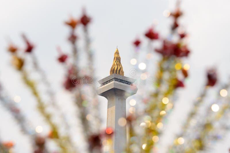 Εθνικό μνημείο Monas, Τζακάρτα, Ινδονησία στοκ φωτογραφία