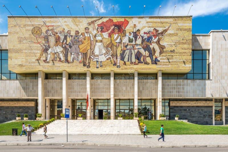Εθνικό μουσείο ιστορίας στα Τίρανα στοκ εικόνα με δικαίωμα ελεύθερης χρήσης