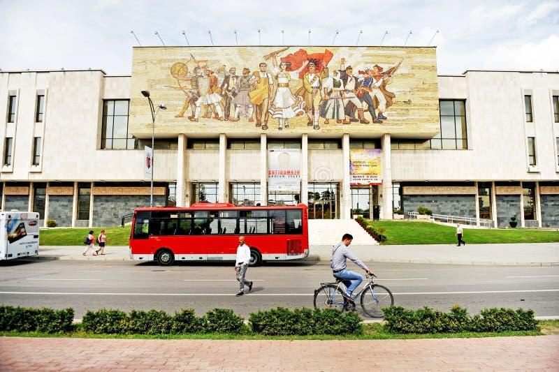 Εθνικό μουσείο ιστορίας της Αλβανίας στα Τίρανα στοκ φωτογραφία
