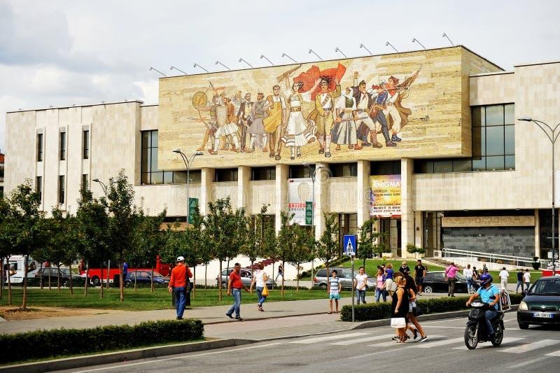 Εθνικό μουσείο ιστορίας της Αλβανίας στα Τίρανα στοκ εικόνες με δικαίωμα ελεύθερης χρήσης