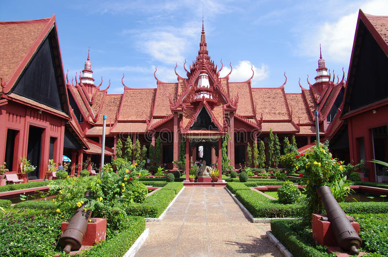 Εθνικό Μουσείο της Καμπότζης στοκ φωτογραφίες με δικαίωμα ελεύθερης χρήσης