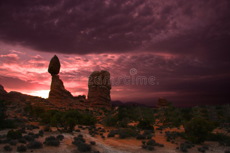 εθνικό πάρκο αψίδων στοκ φωτογραφίες
