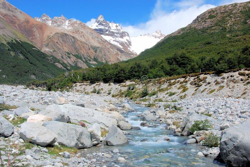 Εθνικό πάρκο παγετώνων, άποψη του υποστηρίγματος Fitz Roy, Αργεντινή στοκ φωτογραφίες