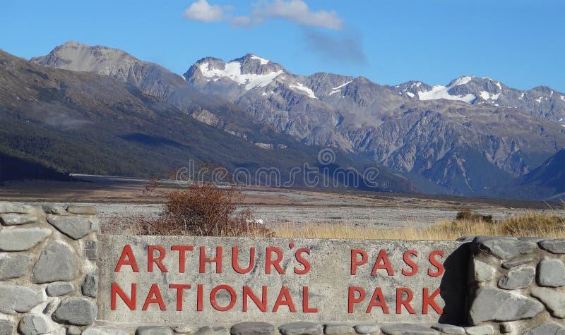 Εθνικό πάρκο περασμάτων του Άρθουρ στοκ εικόνα με δικαίωμα ελεύθερης χρήσης