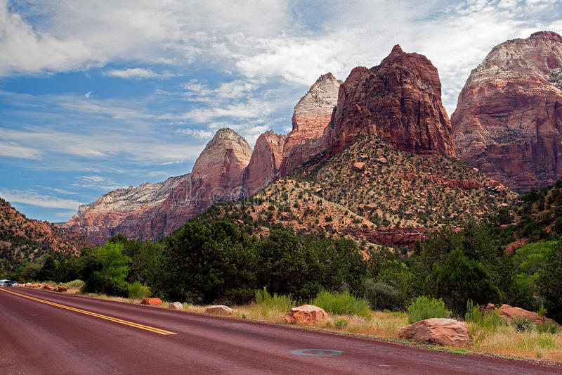 Εθνικό πάρκο φαραγγιών Zion στοκ εικόνα με δικαίωμα ελεύθερης χρήσης