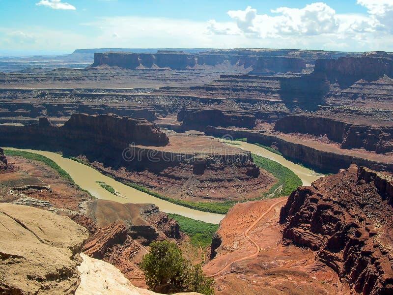 Εθνικό πάρκο Canyonlands, Γιούτα, U S Το Α, πράσινος ποταμός αγνοεί στοκ φωτογραφίες
