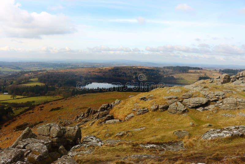 Εθνικό πάρκο Devon UK Dartmoor βράχων Sheepstor στοκ εικόνες με δικαίωμα ελεύθερης χρήσης