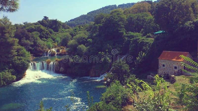 Εθνικό πάρκο Krka στην Κροατία στοκ εικόνες με δικαίωμα ελεύθερης χρήσης