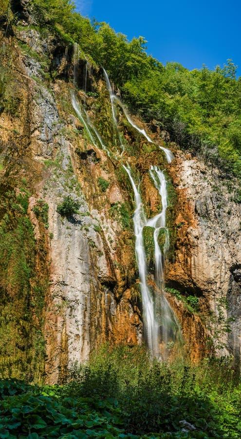 Εθνικό πάρκο Plitvice, Κροατία - ο μεγάλος καταρράκτης, στοκ εικόνα