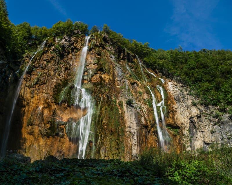 Εθνικό πάρκο Plitvice, Κροατία - ο μεγάλος καταρράκτης, στοκ εικόνες