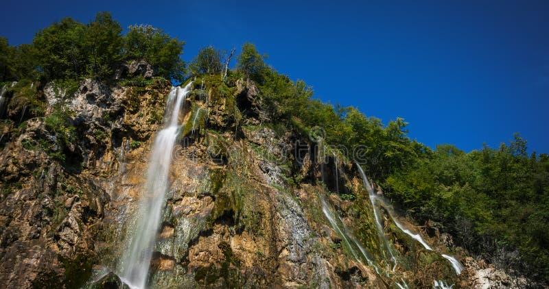 Εθνικό πάρκο Plitvice, Κροατία - ο μεγάλος καταρράκτης, στοκ εικόνα με δικαίωμα ελεύθερης χρήσης