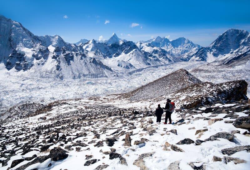 Εθνικό πάρκο Sagarmatha, Νεπάλ Ιμαλάια στοκ φωτογραφία με δικαίωμα ελεύθερης χρήσης