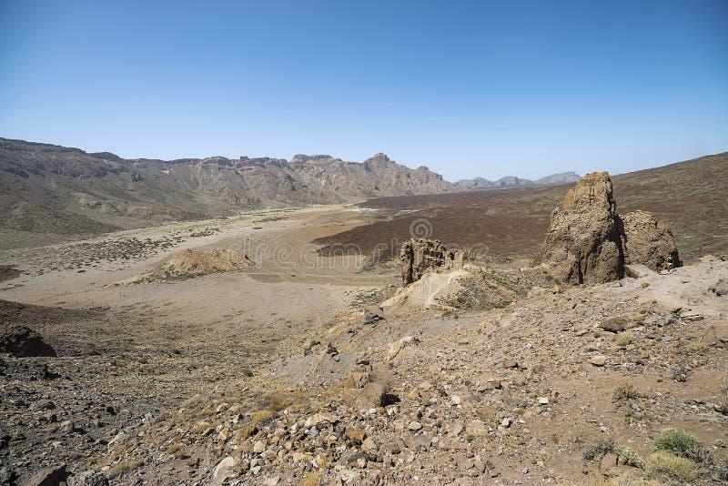 Εθνικό πάρκο Teide Llano de Ucanca στοκ φωτογραφία με δικαίωμα ελεύθερης χρήσης