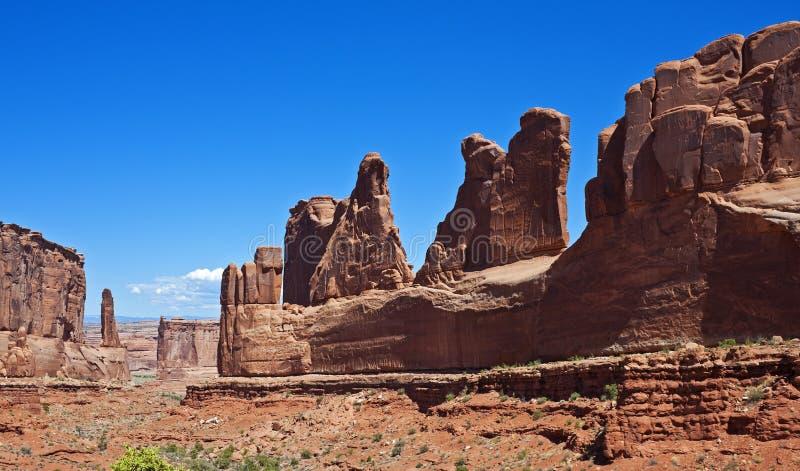 Εθνικό πανόραμα πάρκων αψίδων στοκ εικόνες
