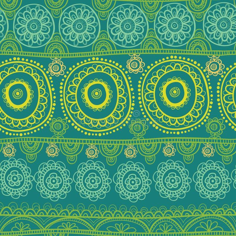 εθνικό πρότυπο άνευ ραφής ινδική διακόσμηση απεικόνιση αποθεμάτων