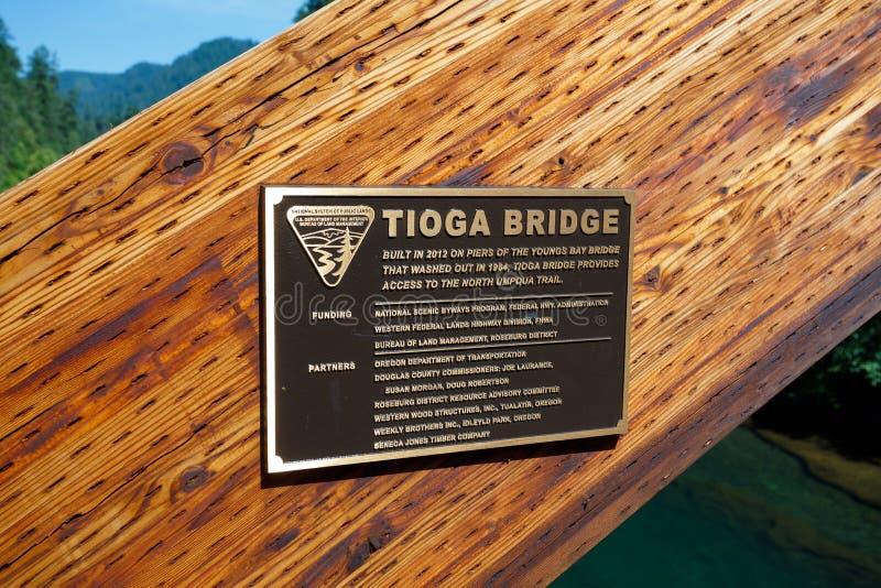 Εθνικό δρυμός Umpqua γεφυρών Tioga στοκ εικόνες