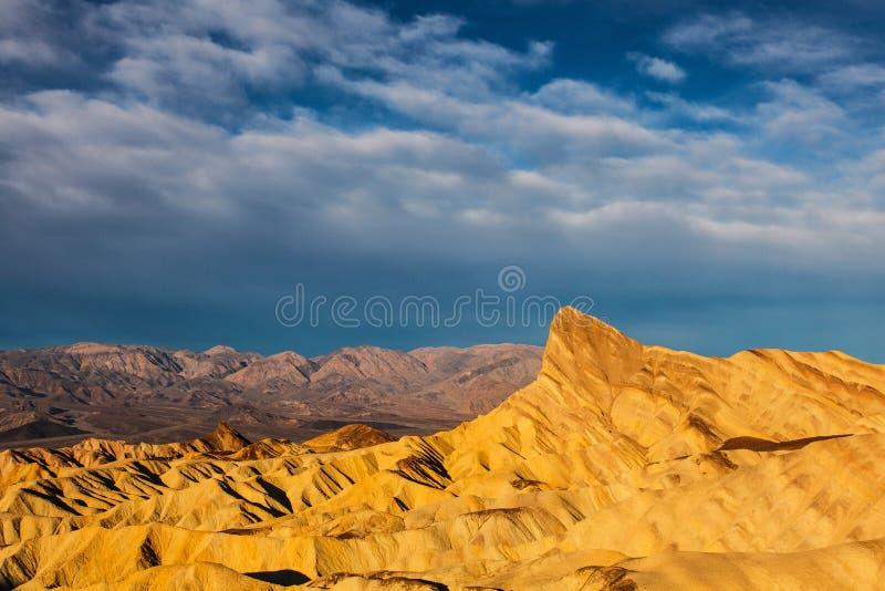 Εθνικό σημείο Badlands Zabriskie πάρκων κοιλάδων θανάτου στοκ εικόνες