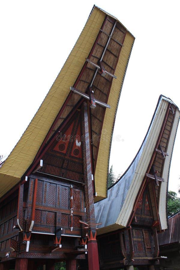 Εθνικό σπίτι Toraja στοκ φωτογραφίες