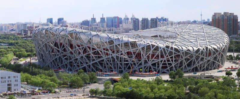 Εθνικό στάδιο Panoram της Κίνας Πεκίνο στοκ εικόνα με δικαίωμα ελεύθερης χρήσης