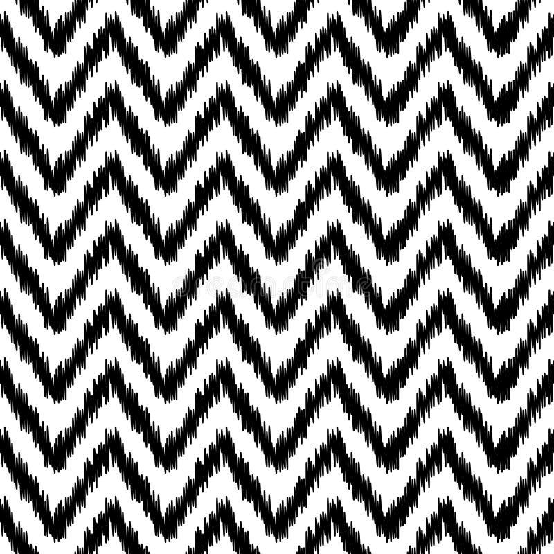 Εθνικό σχέδιο σιριτιών ikat αφηρημένο γεωμετρικό σε γραπτό, διάνυσμα ελεύθερη απεικόνιση δικαιώματος