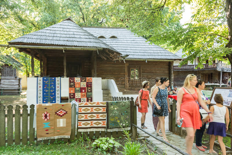 Εθνικό του χωριού μουσείο Gusti Dimitrie (Muzeul Satului) στοκ εικόνα με δικαίωμα ελεύθερης χρήσης